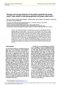 Energy and exergy analysis of dry-steam geothermal power plant