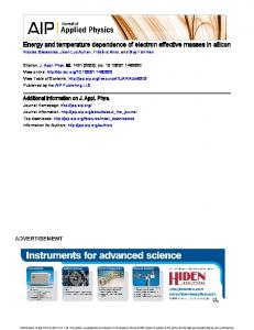 Energy and temperature dependence of electron ...