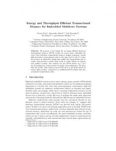 Energy and Throughput Efficient Transactional ... - Semantic Scholar