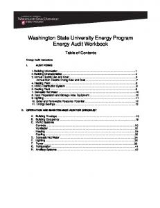 Energy Audit Workbook - WSU Extension Energy Program