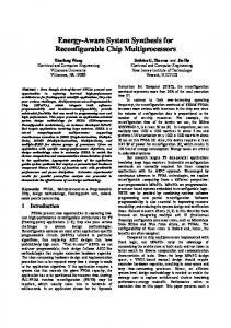 Energy-Aware System Synthesis for ... - Semantic Scholar