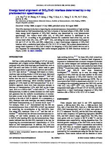 Energy band alignment of SiO2/ZnO interface ...