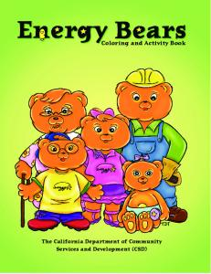 Energy Bear coloring book - Weatherization Assistance Program ...