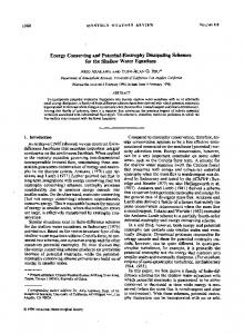 Energy Conserving and Potential-Enstrophy Dissipating Schemes ...