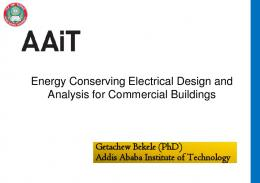 Energy Conserving Electrical Design and Analysis for ...