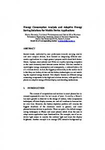 Energy Consumption Analysis and Adaptive Energy ...