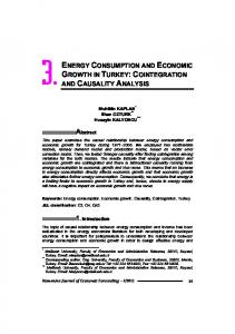 ENERGY CONSUMPTION AND ECONOMIC GROWTH IN TURKEY ...