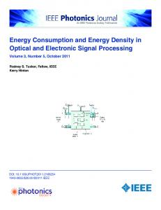 Energy Consumption and Energy Density in Optical and Electronic ...