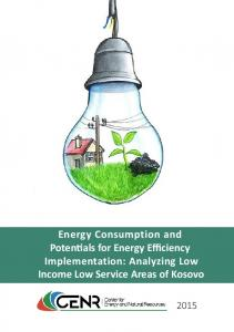 Energy Consumption and Potentials for Energy ...