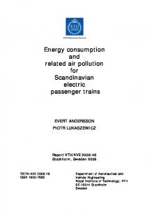Energy Consumption and Related Air Pollution for Scandinavian - KTH