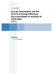 Energy Consumption and the Effects of Energy