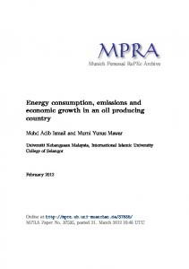 Energy consumption, emissions and economic growth in an oil