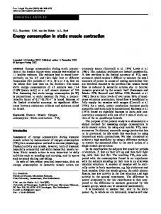 Energy consumption in static muscle contraction - Free