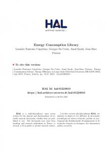 Energy Consumption Library