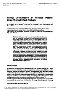 Energy Consumption of Insulated Material Using Thermal Effect Analysis
