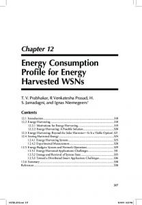 Energy Consumption Profile for Energy Harvested WSNs