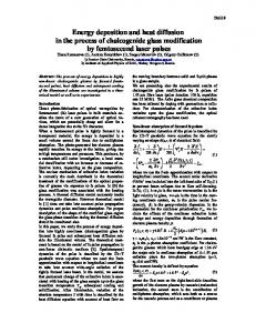 Energy deposition and heat diffusion in the process of ... - CiteSeerX