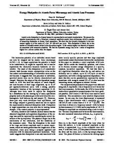 Energy Dissipation in Atomic Force Microscopy