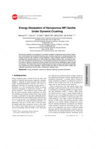 Energy Dissipation of Nanoporous MFI Zeolite Under ... - Yu Qiao