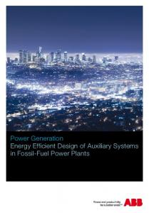 Energy Efficiency for Power Plant Auxiliaries - Abb