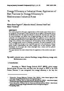 Energy Efficiency in Industrial Areas: Application of Best Practices for ...