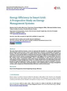 Energy Efficiency in Smart Grid - Scientific Research Publishing