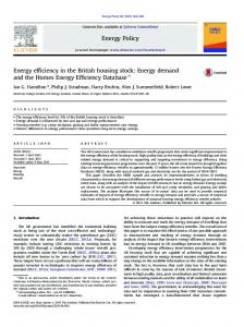 Energy efficiency in the British housing stock_ Energy ... - UCL Discovery