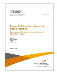 Energy Efficiency Investments in Public Facilities - Pacific Northwest ...