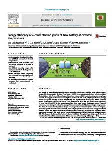 Energy efficiency of a concentration gradient flow ... - CyberLeninka