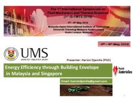 Energy Efficiency through Building Envelope in Malaysia and Singapore