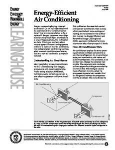 Energy-Efficient Air Conditioning. Energy Efficiency and Renewable ...