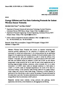Energy-Efficient and Fast Data Gathering Protocols