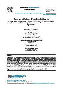 Energy-efficient Checkpointing in High-throughput ... - Semantic Scholar