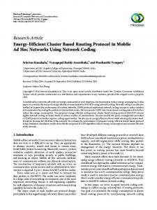 Energy-Efficient Cluster Based Routing Protocol in Mobile Ad Hoc ...