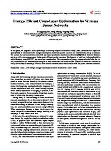 Energy-Efficient Cross-Layer Optimization for Wireless Sensor Networks