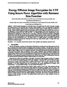 Energy Efficient Image Encryption for LTE Using ...