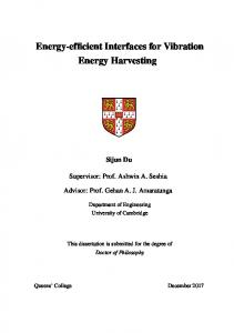 Energy-efficient Interfaces for Vibration Energy Harvesting