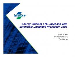 Energy-Efficient LTE Baseband with Extensible Dataplane Processor ...