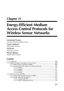 Energy-Efficient Medium Access Control Protocols for