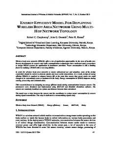 Energy Efficient Model For Deploying Wireless ... - Aircc Digital Library