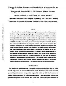 Energy-Efficient Power and Bandwidth Allocation in an Integrated Sub ...