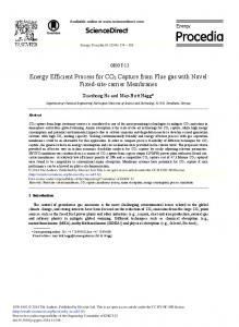 Energy Efficient Process for CO2 Capture from Flue ... - ScienceDirect