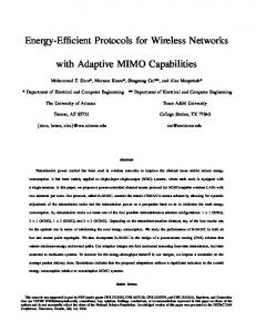 Energy-Efficient Protocols for Wireless Networks with Adaptive MIMO ...