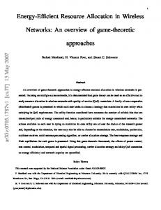 Energy-Efficient Resource Allocation in Wireless Networks - arXiv