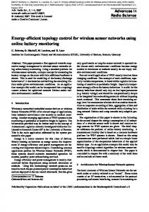 Energy-efficient topology control for wireless sensor networks using