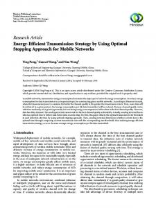 Energy-Efficient Transmission Strategy by Using Optimal Stopping ...