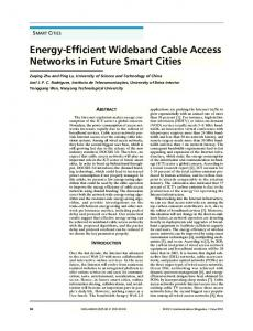 Energy-Efficient Wideband Cable Access Networks in Future Smart