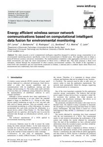 Energy efficient wireless sensor network ... - IEEE Xplore