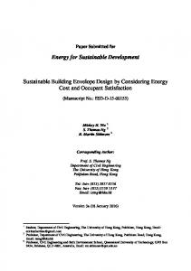 Energy for Sustainable Development Sustainable ...