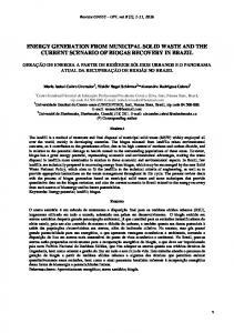 energy generation from municipal solid waste and ... - Semantic Scholar